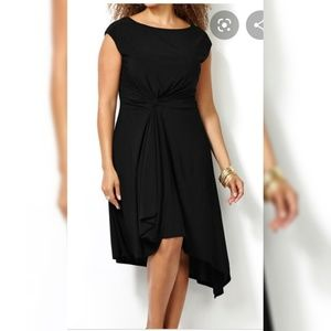 Avenue Knot Front Asymmetrical Dress